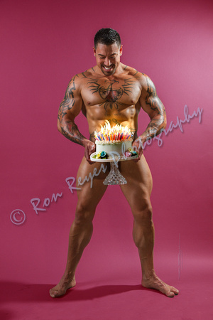 0060A_ Flaming Birthday Cake