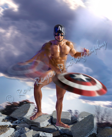 00A2_ National Nude Day– SuperHeroes 010B_ Sexy Captain America